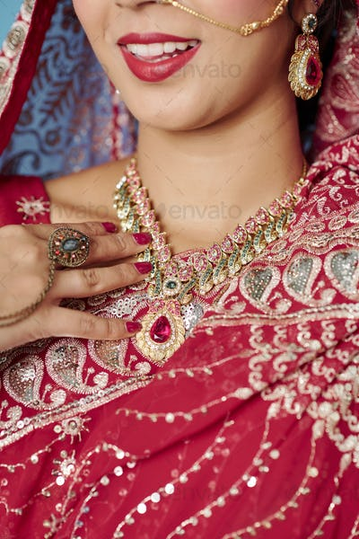 Indian woman wearing jewelry