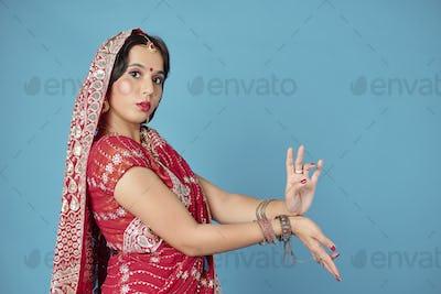Dancing Indian woman