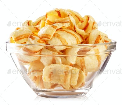 Chips in transparent plate