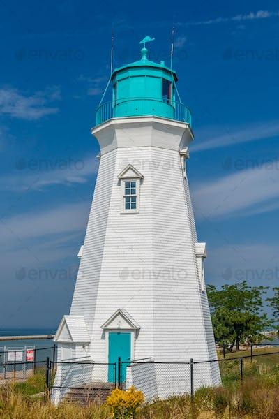 Beautiful lighthouse at Port Dalhousie Harbour, Ontario, Canada
