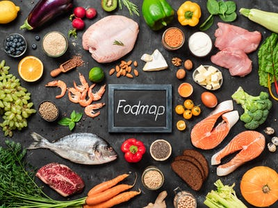 Fodmap diet concept, top view or flat lay