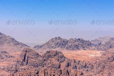 Panorama of the Wadi Musa near Petra, Jordan