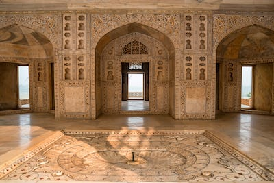Interior of Golden Pavilion in Fort of Agra
