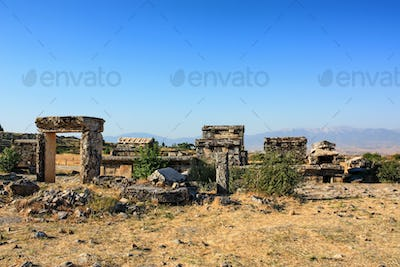 Nekropolis of Hierapolis ancient city view