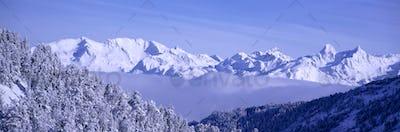 Winter Sunrise Over the Alps