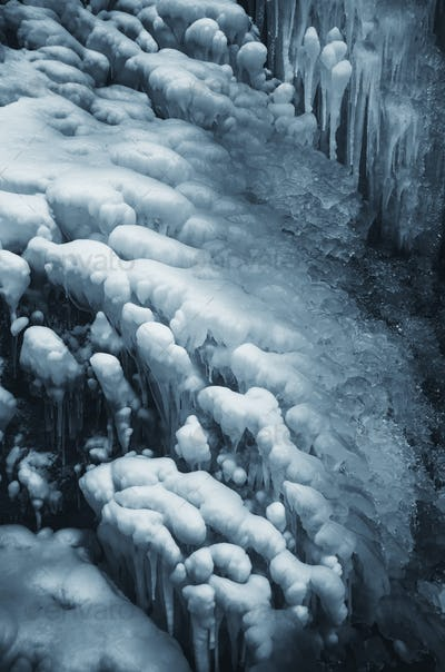 ice background, cold weather in winter