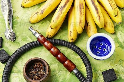 Hookah with banana flavor