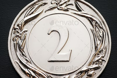 Silver winners medal for the 2nd place runner-up