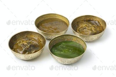 Diversity of Savon Beldi in metal cups