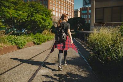NYC girl, on the HighLine Park