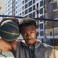 Muscular Basketball Player