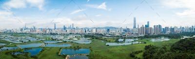 Panorama of Shenzhen city,China