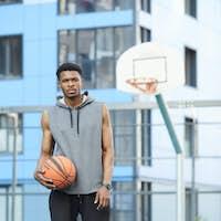 African Basketball Player Posing