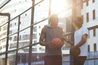 African-American guys in urban setting