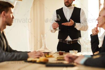 Sommelier at Tasting Session