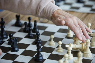 Getting opponent chess figure