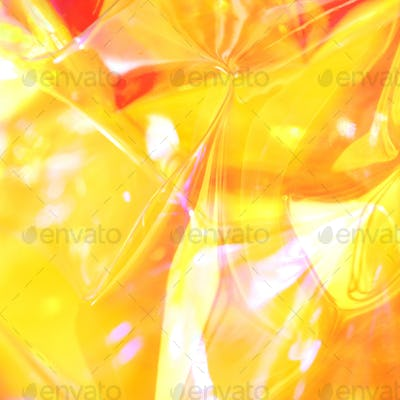 Neon holographic background. Wallpaper hologram with copy space. Wrinkled abstract texture with