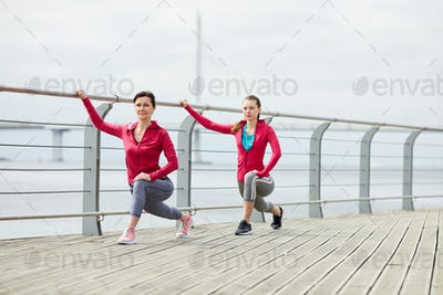 Mother and Daughter Jogging