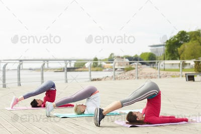 Yoga Workout on Pier