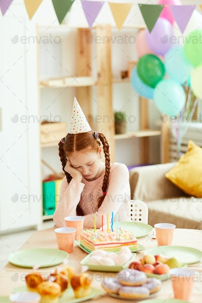 Girl Alone at Birthday Party
