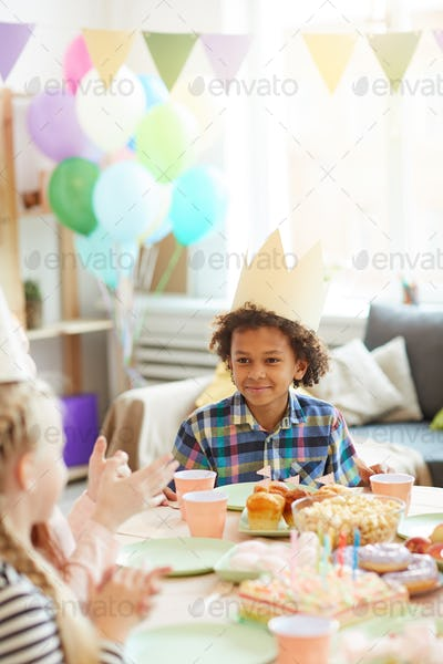 Cute African-American Boy at Party