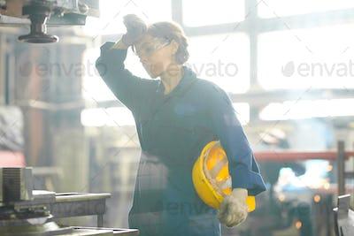 Tired Female Worker
