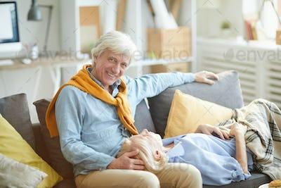 Modern Senior Couple Relaxing