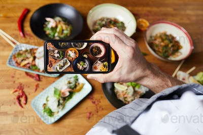 Taking Photo of Asian Food