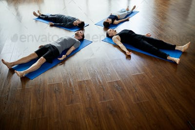 Napping at end of yoga practice