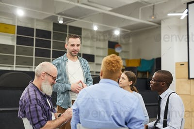 Man Introducing himself at Support Group Meeting