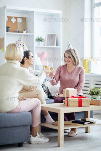 Three Women Celebrating Birthday