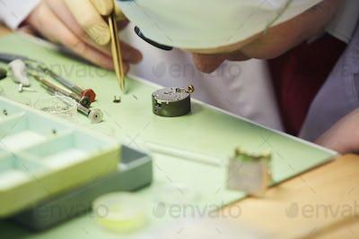 Watchmaker Closeup