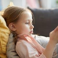 Little Girl Using Internet