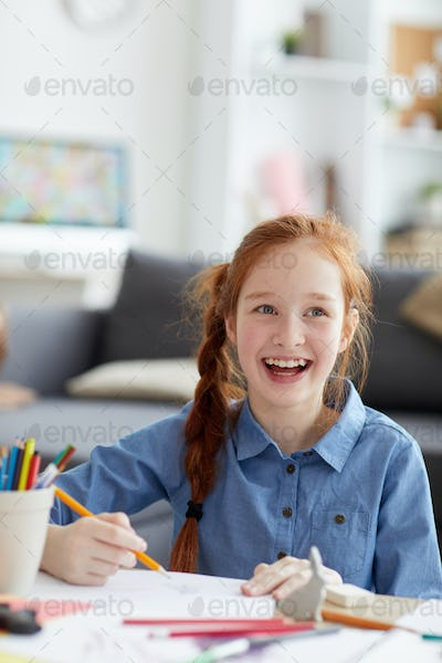 Smiling Red haired Girl