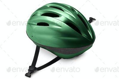 Green Bike Helmet