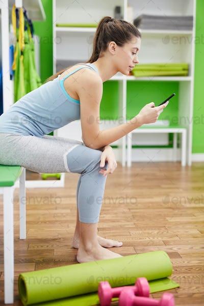 Woman Using Smartphone in Smartphone