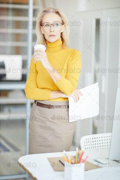 Pensive Mature Businesswoman