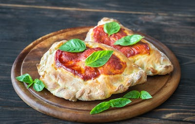 Homemade calzone