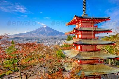 Mt. Fuji, Japan from Chureito Pagoda