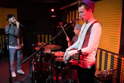 Modern Music Band Performance