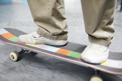 Sportsman on skateboard
