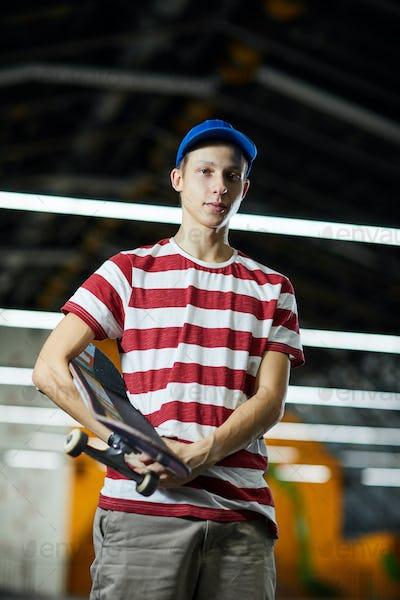 Boy skateboarder