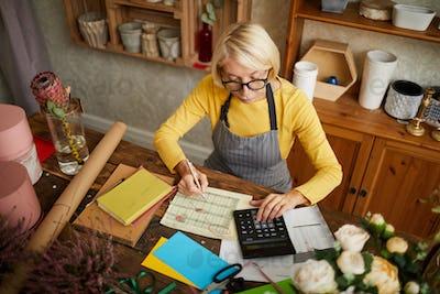 Mature Woman Accounting