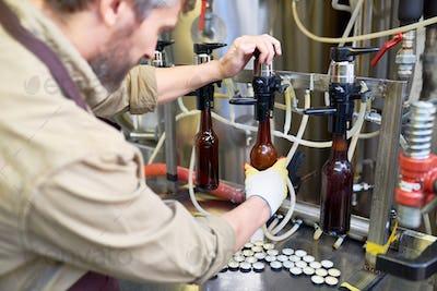 Operator of Beer Bottling Equipment