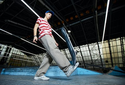 Workout with skateboard
