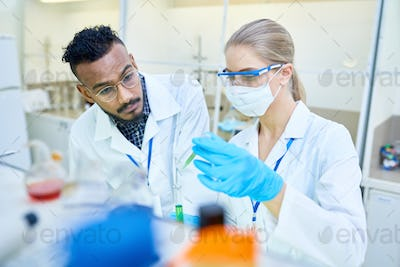 Research Technicians Working in Laboratory