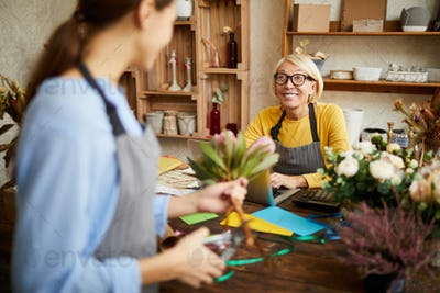 Work in Florists Shop