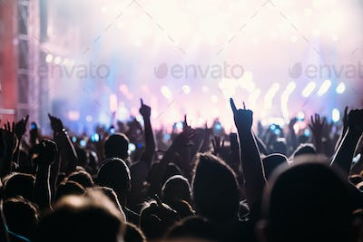 Picture of dancing crowd at music festival
