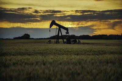 Pump jack. Oil well