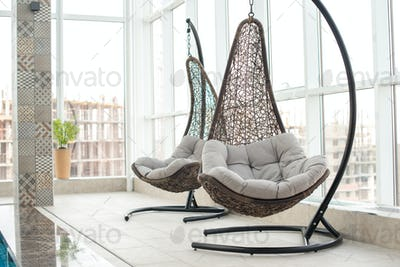 Modern hanging lounge chairs